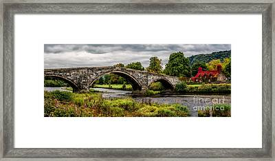 Llanrwst Bridge Panorama Framed Print by Adrian Evans