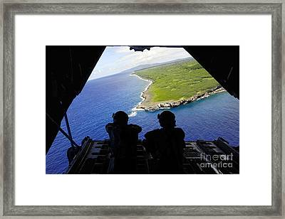 Loadmasters Look Out Over Tumon Bay Framed Print by Stocktrek Images