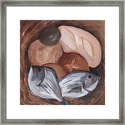 Loaves And Fishes Framed Print by Chelle Fazal