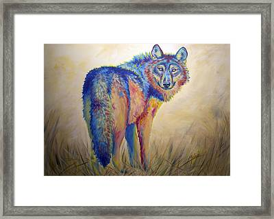 Lobo Legend Framed Print by Teshia Art