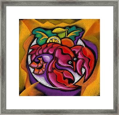 Lobster Framed Print by Leon Zernitsky