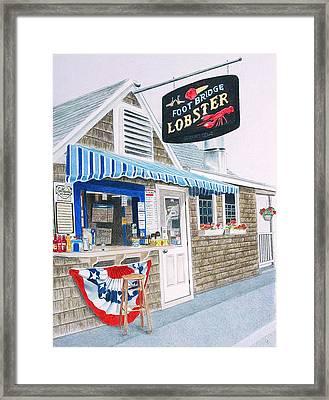 Lobster Shack Framed Print by Glenda Zuckerman