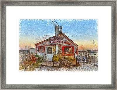 Lobster Shack Pencil Framed Print by Edward Fielding