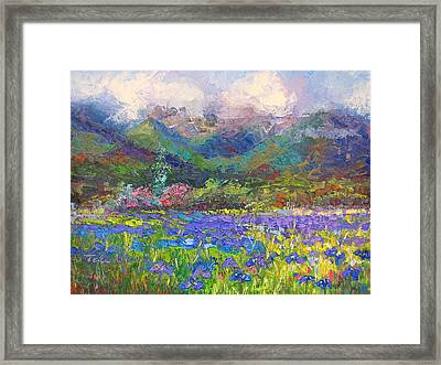 Local Color Framed Print by Talya Johnson