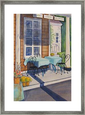 Local Hangout Framed Print by Marsha Elliott