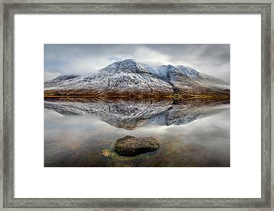 Loch Etive Reflection Framed Print by Dave Bowman