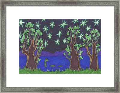 Loch Ness Night Framed Print by James Davidson