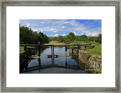 Lock Gates On The Old Canal Framed Print by Louise Heusinkveld