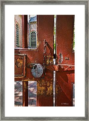 Locked Gate Framed Print by Christopher Holmes