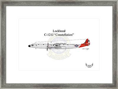 Lockheed C-121j Constellation Framed Print by Arthur Eggers