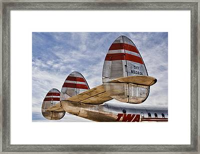 Lockheed Constellation Framed Print by Carol Leigh