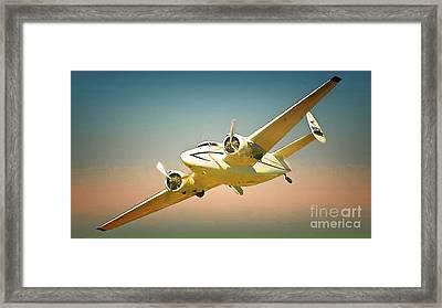 Lockheed Hudson Nostalgia Framed Print by Gus McCrea