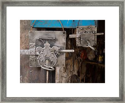 Locks As Advertisement For Artisan Framed Print by Panoramic Images