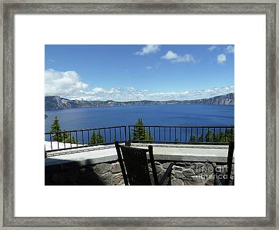 Lodge Veranda Framed Print by Methune Hively
