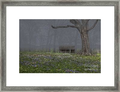 Log Cabin At Mckendree's Chapel Framed Print by Larry Braun