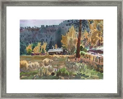 Log Cabin Framed Print by Donald Maier
