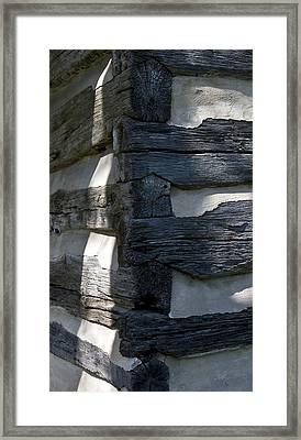 Log Corner Framed Print by Murray Bloom