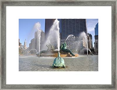 Logan Circle Fountain Framed Print by Bill Cannon