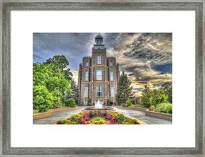 Logan L D S Temple 2 Framed Print by Donna Kennedy