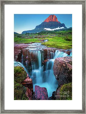 Logan Pass Abyss Framed Print by Inge Johnsson