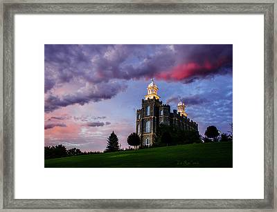 Logan Temple Heaven's Light Framed Print by La Rae  Roberts