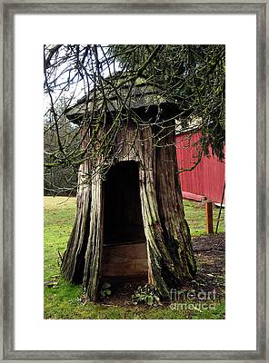 Loggers Outhouse Framed Print by Clayton Bruster