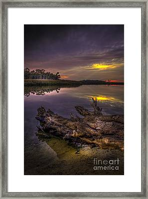 Logging Out Framed Print by Marvin Spates