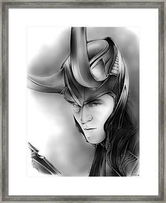 Loki Framed Print by Greg Joens