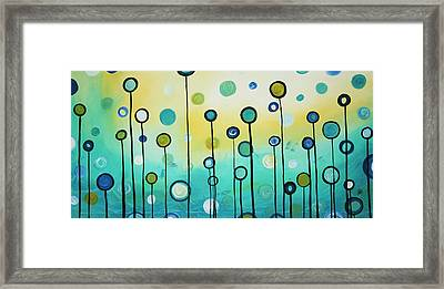 Lollipop Field By Madart Framed Print by Megan Duncanson