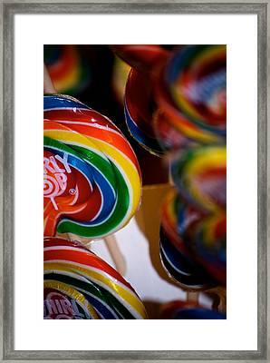 Lollipops Framed Print by Lisa Knechtel