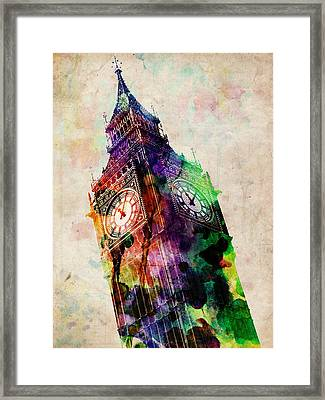 London Big Ben Urban Art Framed Print by Michael Tompsett