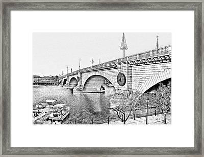 London Bridge Lake Havasu City Arizona Framed Print by Christine Till