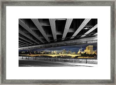 London Bridge Under The Bridge Framed Print by David French