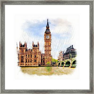 London Calling Framed Print by Marian Voicu