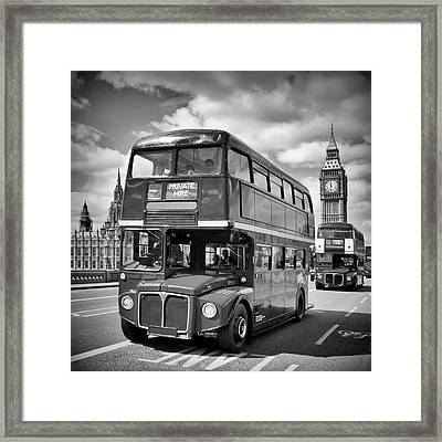 London Classical Streetscene Framed Print by Melanie Viola