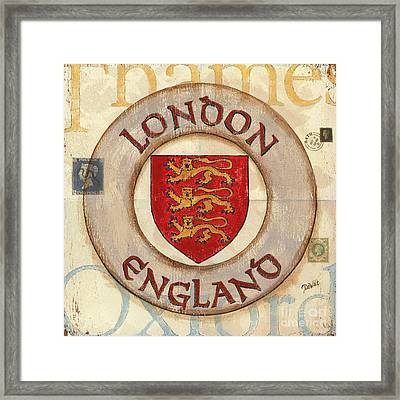 London Coat Of Arms Framed Print by Debbie DeWitt