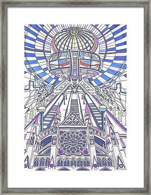 London Composition 2 Framed Print by Ushma Sargeant