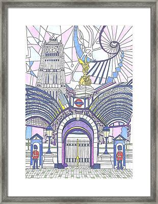 London Composition 3 Framed Print by Ushma Sargeant