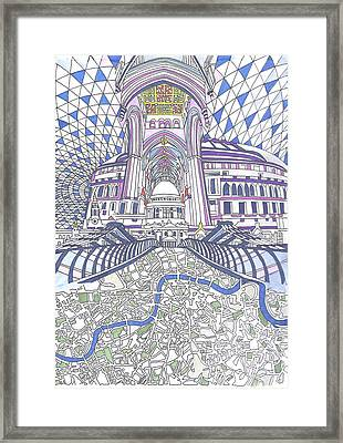 London Composition 4 Framed Print by Ushma Sargeant