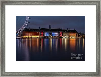 London County Hall Framed Print by Nichola Denny