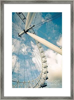 London Eye Ferris Wheel Framed Print by Andy Smy