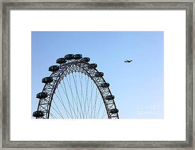 London Eye Flypast Framed Print by James Brunker
