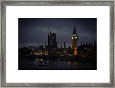London Eye River Cruise Framed Print by Steve LLamb