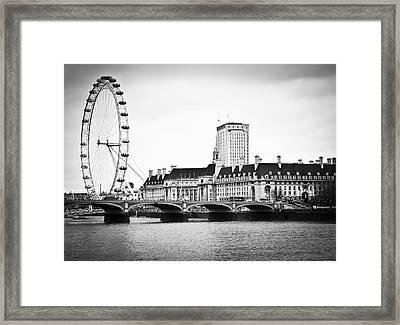 London Eye Framed Print by Stuart Monk