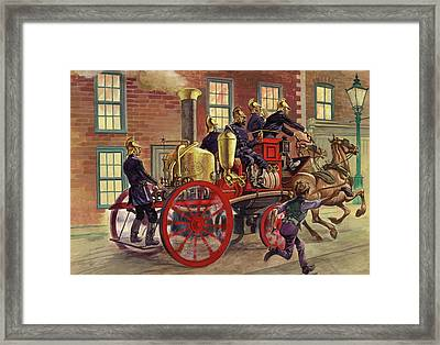 London Fire Engine Of Circa 1860 Framed Print by Peter Jackson