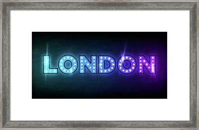 London In Lights Framed Print by Michael Tompsett