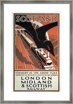 London Midland And Scottish Railway Vintage Travel Framed Print by Daniel Hagerman