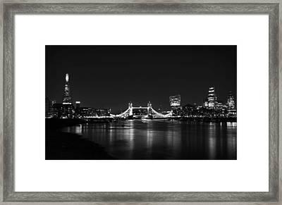 London Night View Framed Print by Mark Rogan