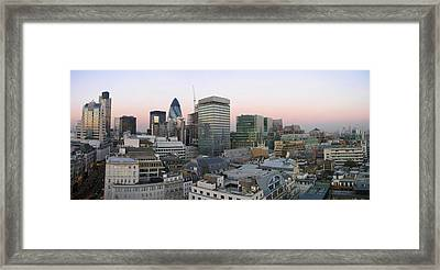 London Panorama From The Monument Framed Print by Romeo Reidl