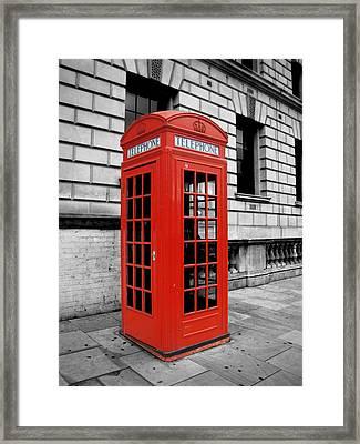 London Phone Booth Framed Print by Rhianna Wurman